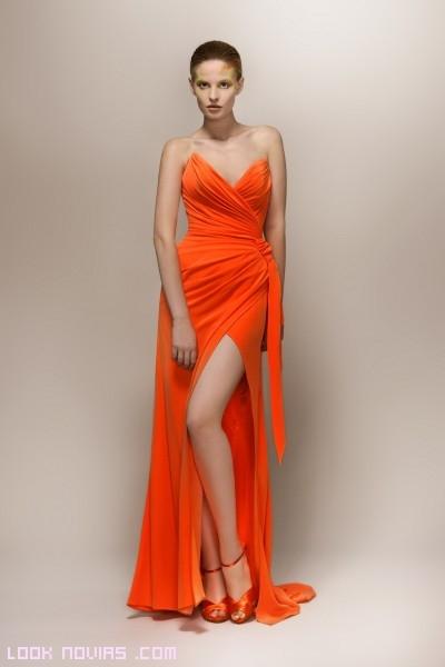 Vestidos largos flúor 2013
