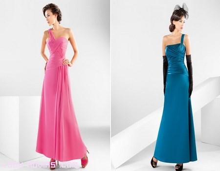 vestidos para fiestas asimétricos