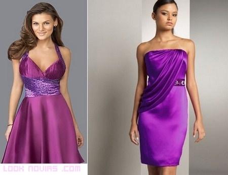 vestidos malva para invitadas