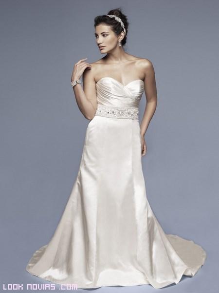 vestidos de seda para novia