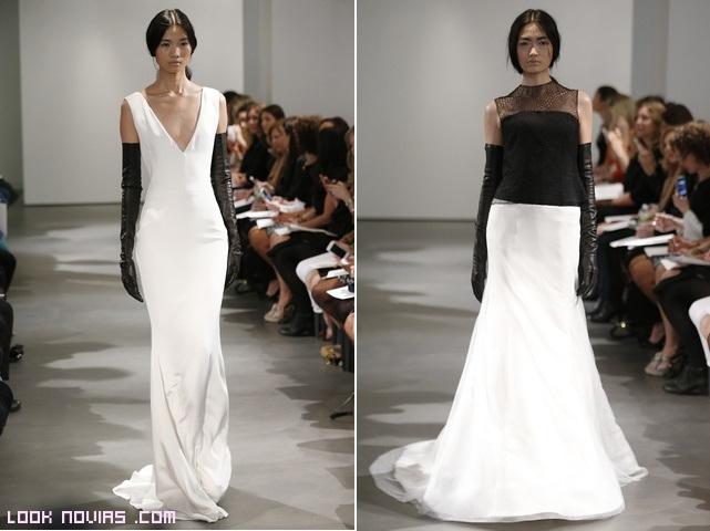 vestidos largos rectos de novia