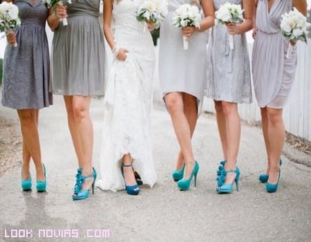 Vestidos de dama de honor azul tiffany
