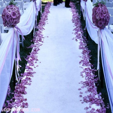 alfombra para decorar boda