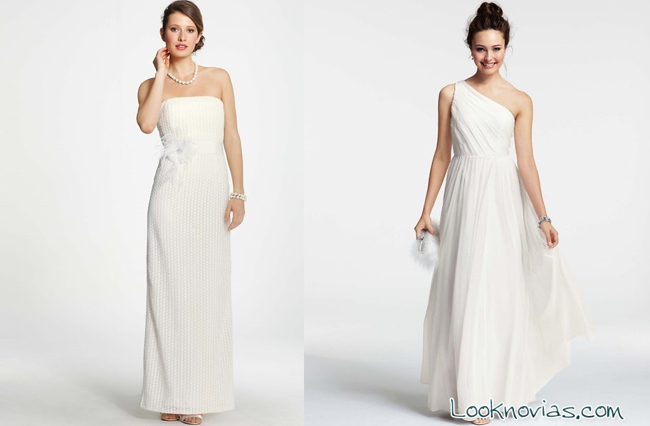 ann taylor vestidos blancos de novia