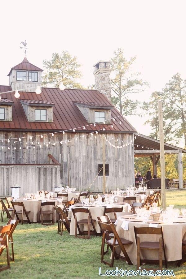 boda rústica al aire libre