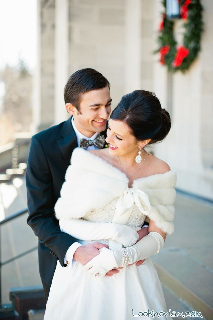 bolero blanco para novia