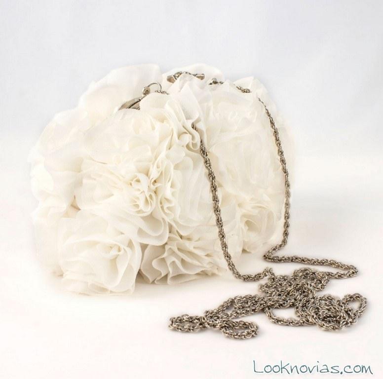 bolso novias flores