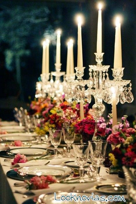 candelabros románticos para bodas