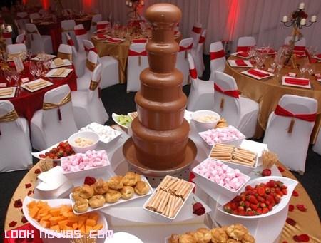 Fuente de chocolate para bodas
