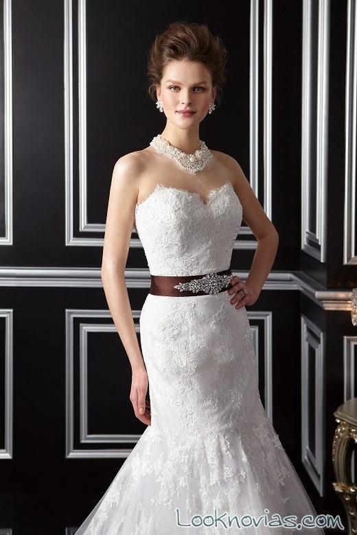 cinturón en color para novia de jasmine bridal
