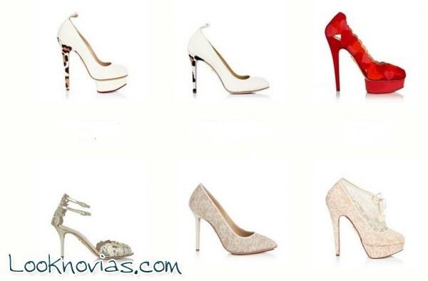 Zapatos para novia de la mano de Charlotte Olympia