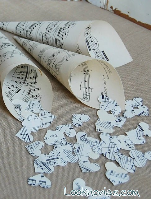 confetti en papel para boda