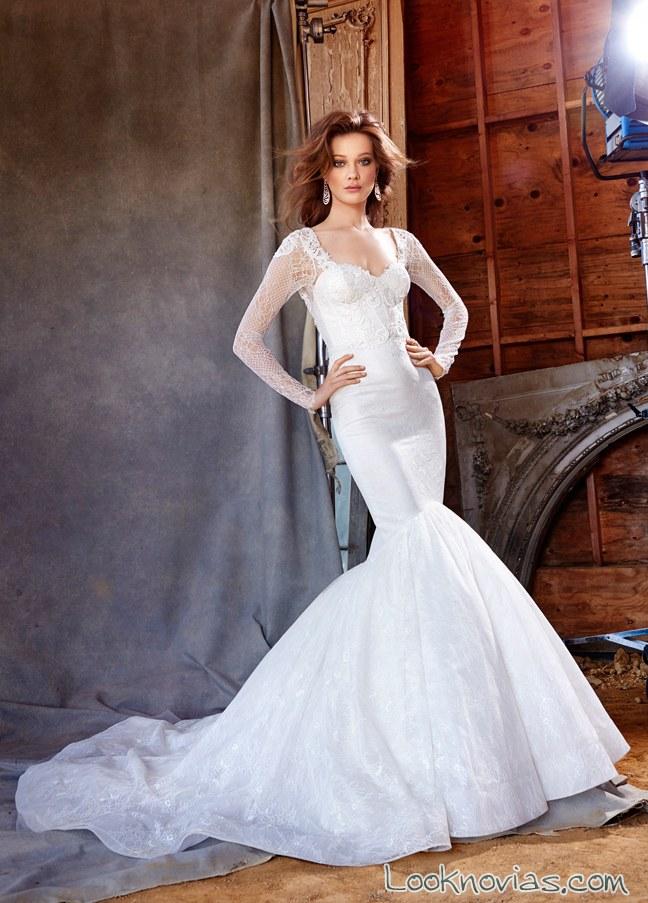 Impresionantes vestidos Lázaro para el otoño 2015