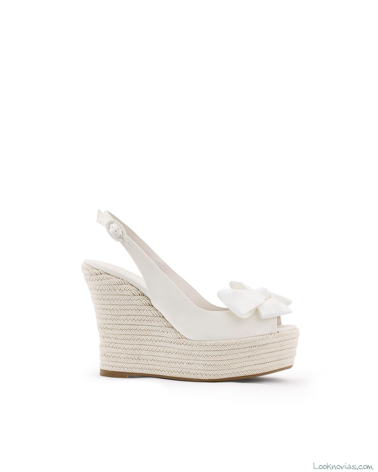 Zapatos para novia de Rosa Clará