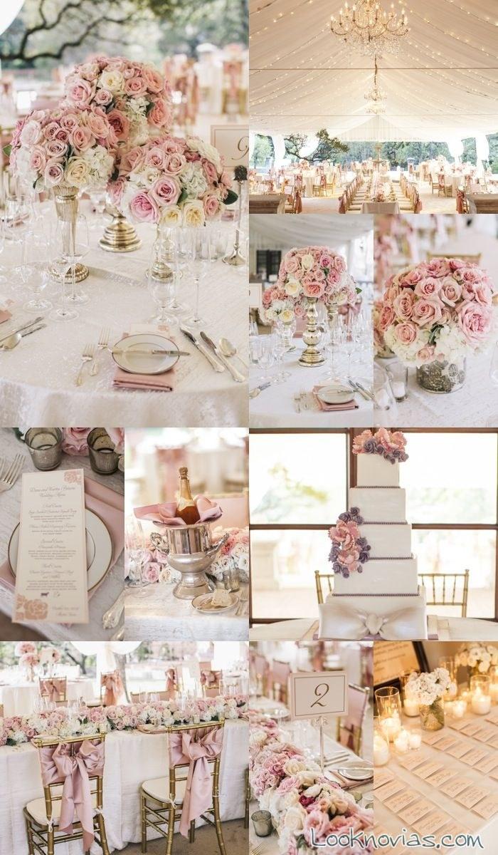 decoración de boda en color rosa