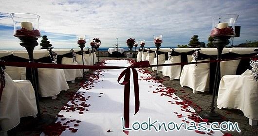 decoración de boda sencilla