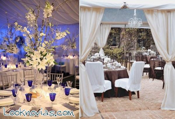 Decoración de carpas románticas para boda