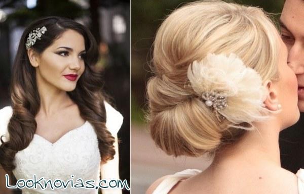 Peinados de novia con aire vintage