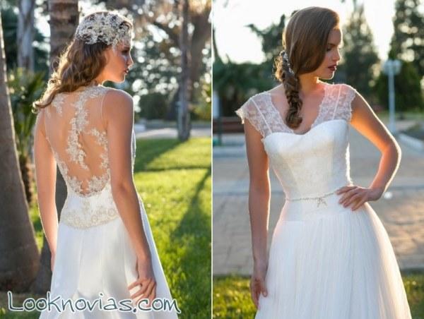 Impresionantes escotes de novia por Blanca Miret