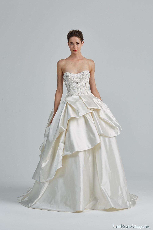 falda abullonada novias elegantes
