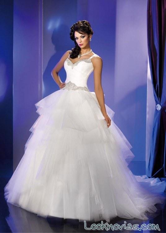 falda con volantes para novias kelly star