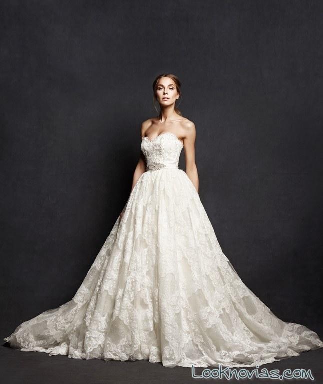 falda con volumen para el vestido de novia