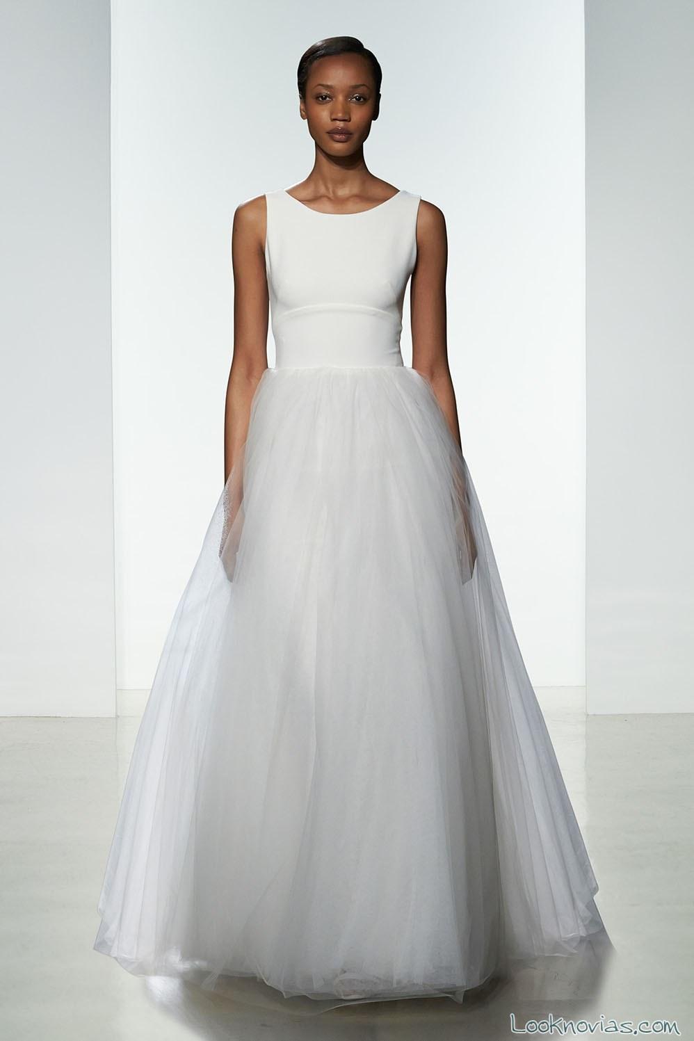 falda de tul para vestido de novia amsale