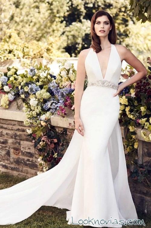falda doble para novias paloma blanca