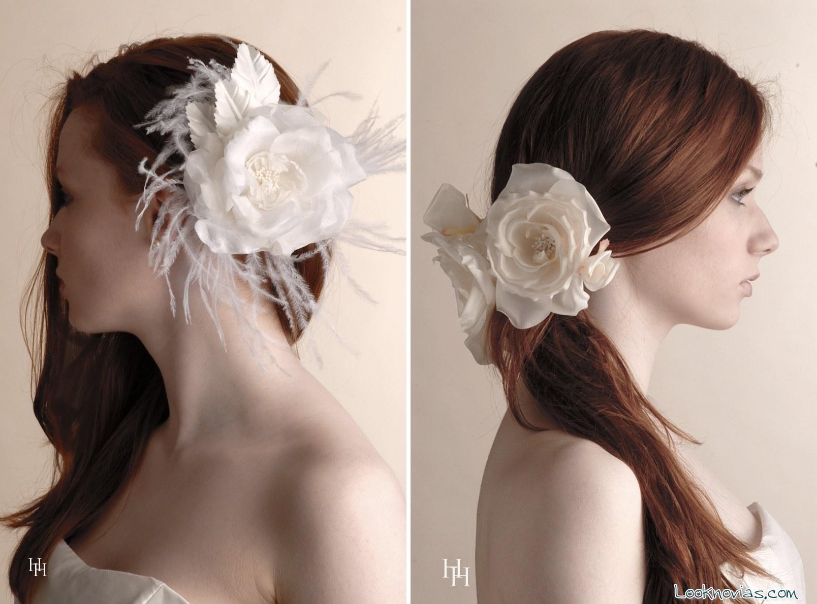 flores para peinados de novia harlow