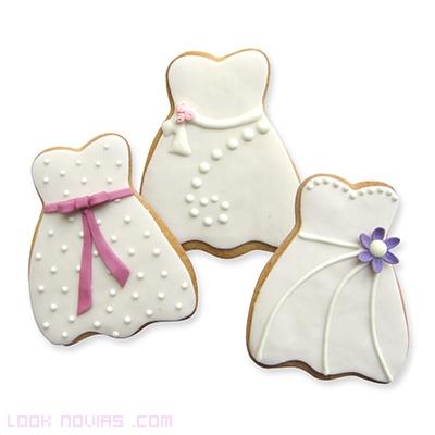 galletas con glasé blanco