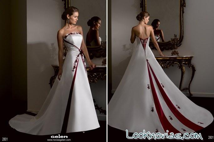 vestidos de novia 2 colores