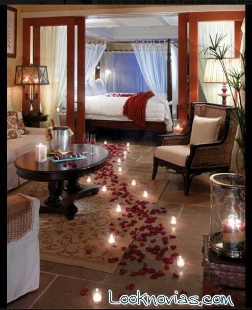 habitación romántica luna de miel