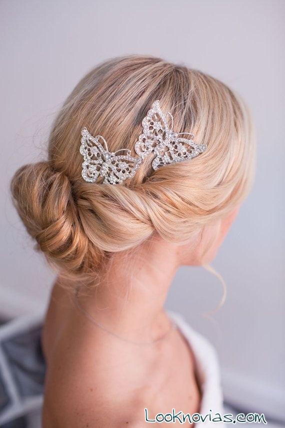 horquillas mariposa para novia de etsy