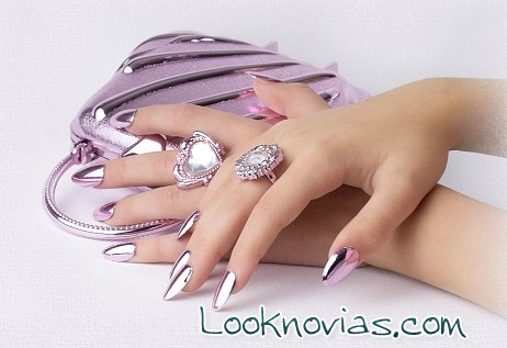 Ideas de manicura metalizada