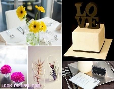 ideas para bodas minimalistas