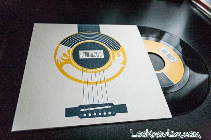 invitación disco vinilo