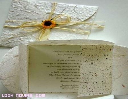 tarjetas de invitación ecológicas