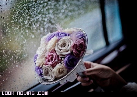 ramo de novia rosas colores