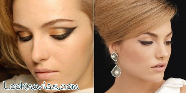 ¿Te gusta el eye-liner para tu maquillaje de novia?