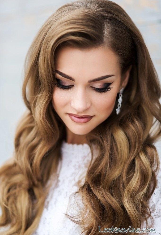 maquillaje marrón intenso para novia