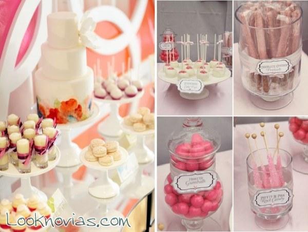Mesas dulces para tu boda for Mesa de dulces para boda