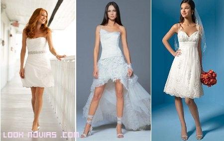 Modelos de vestidos cortos para novias