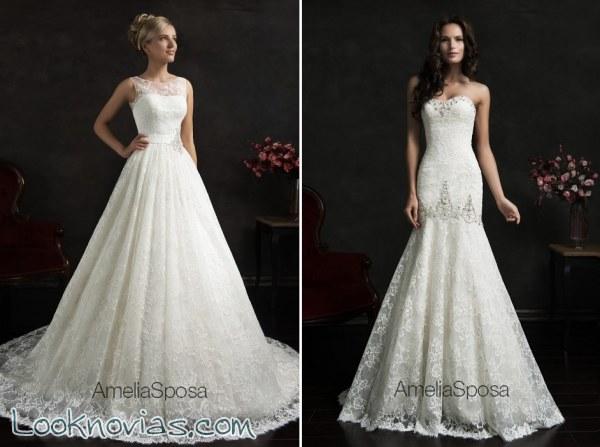 4 asombrosos vestidos de Amelia Sposa