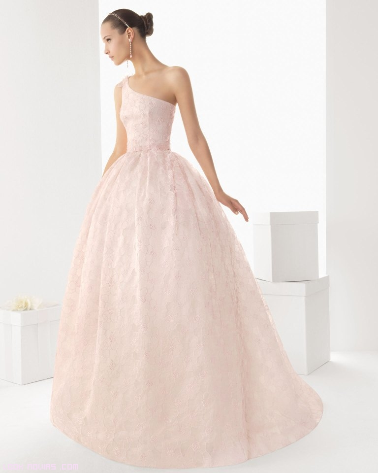 vestidos de novia rosa palo