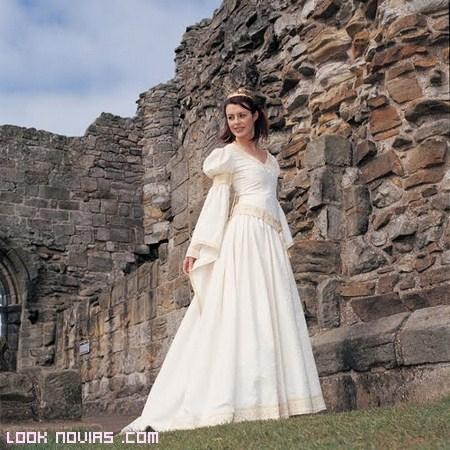vestidos de novia manga abombada