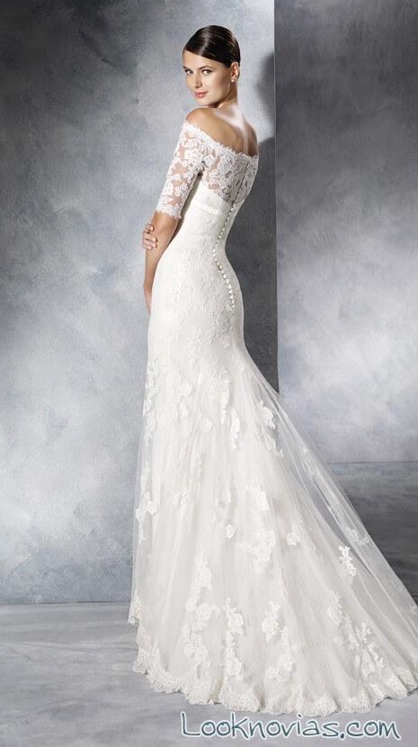 parte trasera de vestido white one