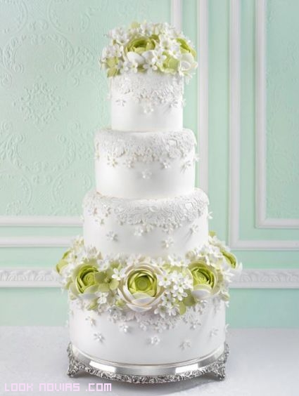 Flores para decorar pasteles de boda