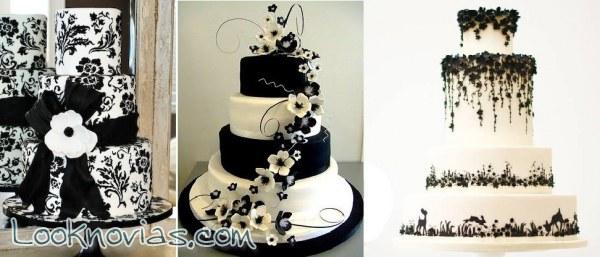 Pasteles en blanco y negro