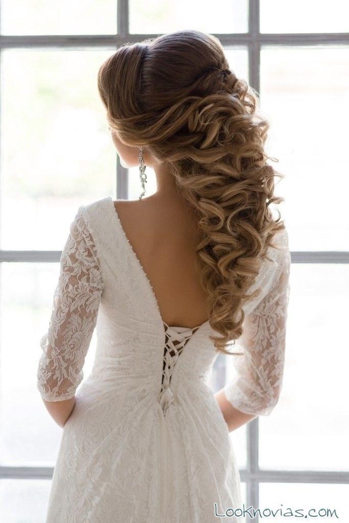 peinado de novias recogido trenzado