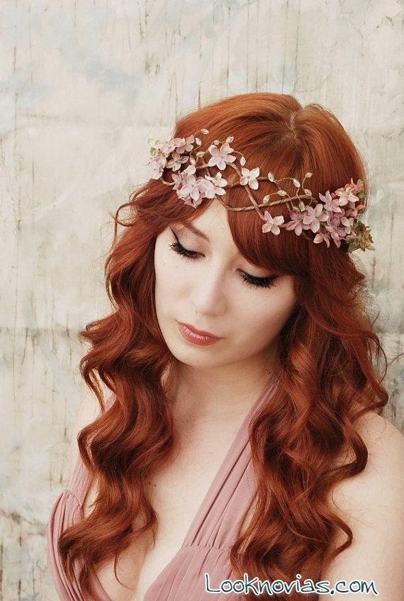 peinado sencillo para novia bohemia